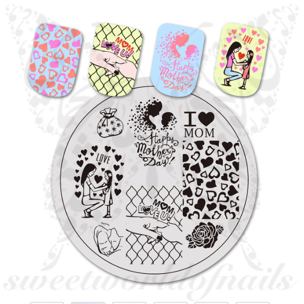 Mother´s Day Nail Art Mom Love Nail Stamping Plate
