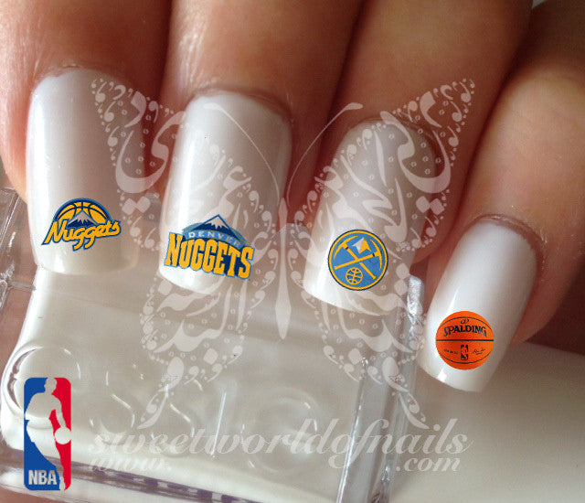 Denver Nuggets NBA Basketball Nail Art Water Decals Nail Transfers Wraps