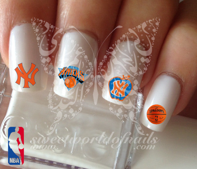 New York Knicks NBA Basketball Nail Art Water Decals Nail Transfers Wraps
