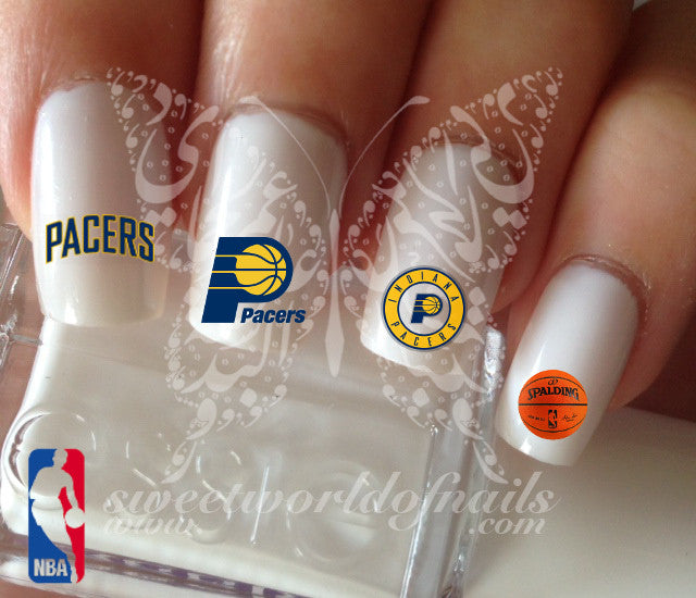 Indiana Pacers NBA Basketball Nail Art Water Decals Nail Transfers Wraps