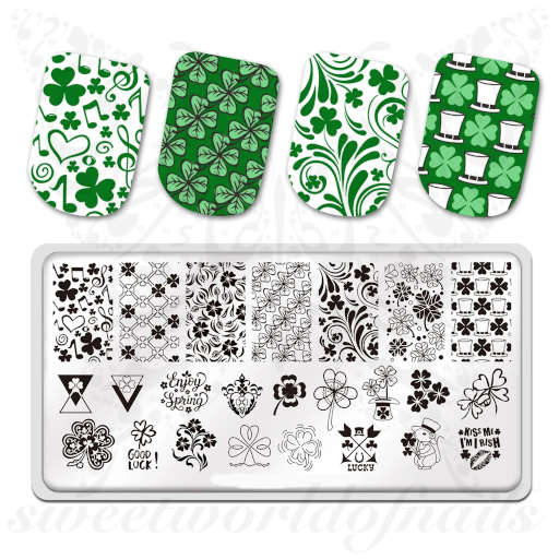 ST Patrick's Day Nail Art Stamping Plate