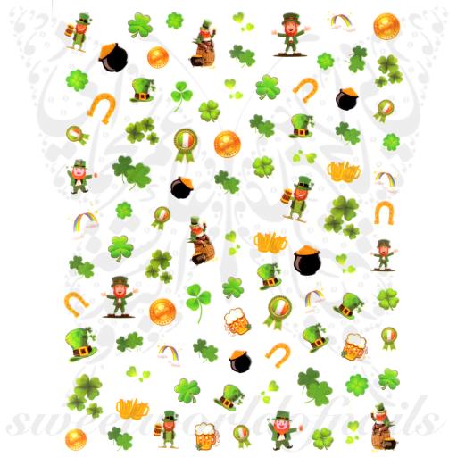 Saint Patrick´s Day Nail Art Nail Stickers