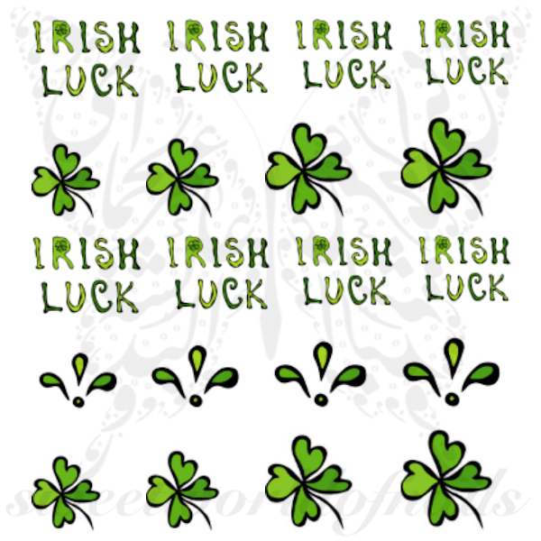Saint Patrick Nails Irish Luck Nail Water Decals