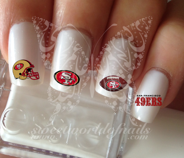San Francisco 49er Football Nail Art Water Decals Nail Transfers Wraps