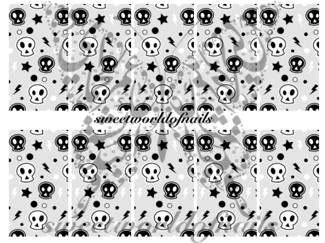 Halloween Skulls Nail Art Water Full Wraps Transfers