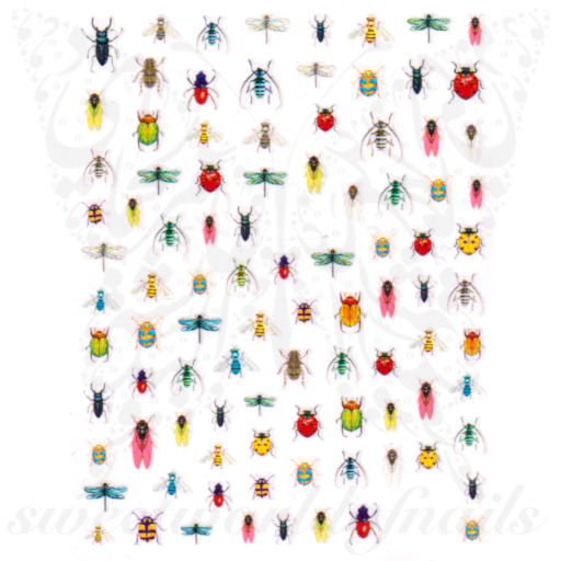 Spring Bugs Insects Nail Stickers