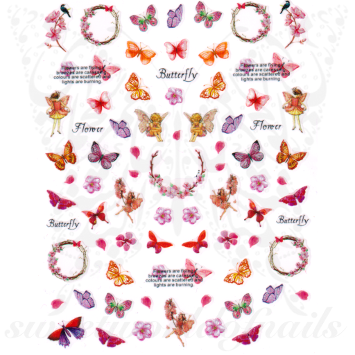 Spring Butterflies Nail Stickers