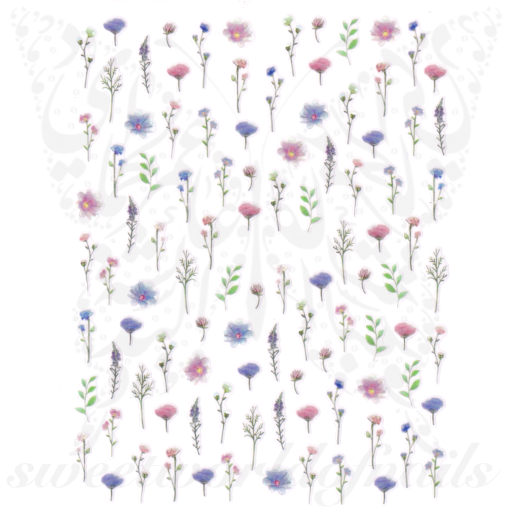 Spring Nail Art Flowers Stickers