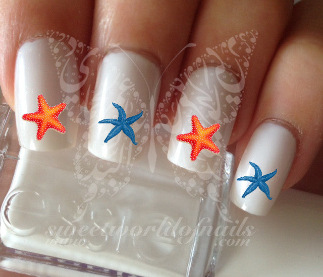 - Starfish Nail Art Nail Water Decals