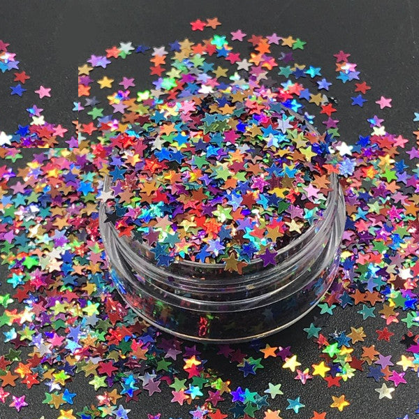 Mini Star Shape Nail Art Colorful Confetti Glitter