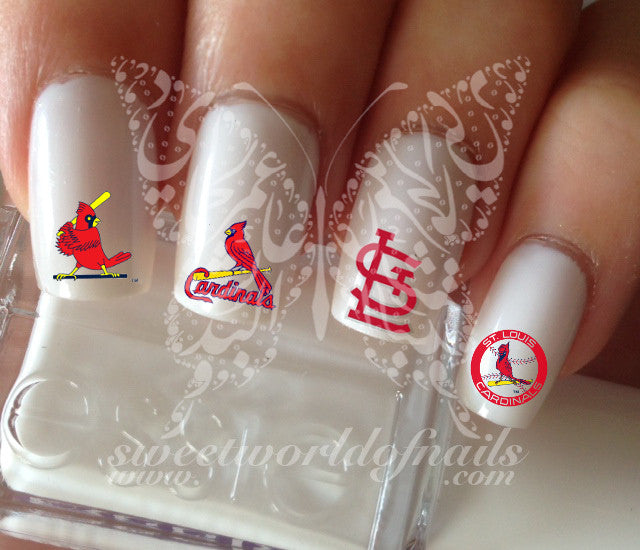 St Louis Cardinals Baseball Nail Art Water Decals Nail Transfers Wraps