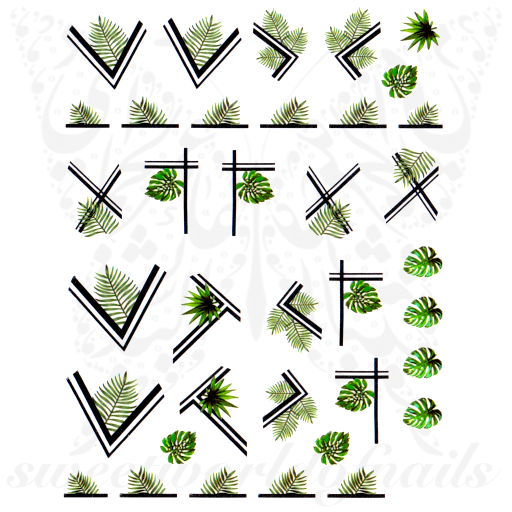 Summer Nail Art Tropical Leaves Nail Stickers Are you searching for tropical leaves png images or vector? summer nail art tropical leaves nail stickers