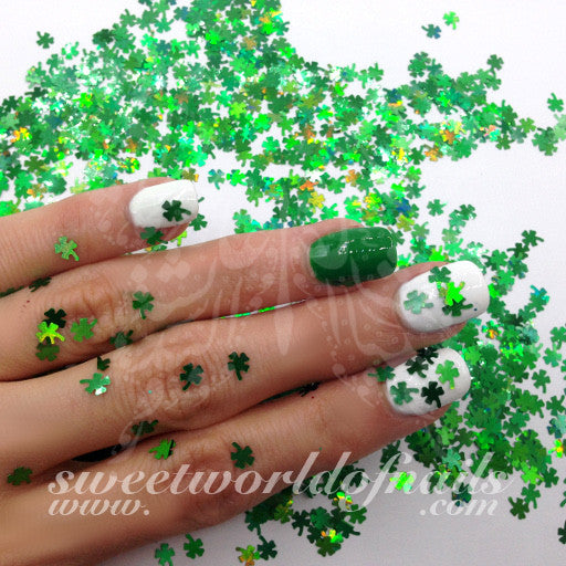 Saint Patrick's Day Nail Art Green Shamrock Leaf Decoration