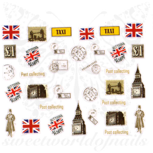 United Kingdom Nails England Flag London Nail Stickers