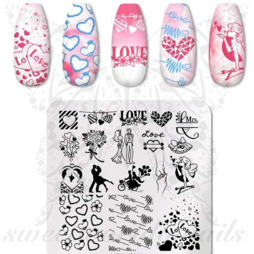 Valentine´s Day Nail Art Stamping Plate