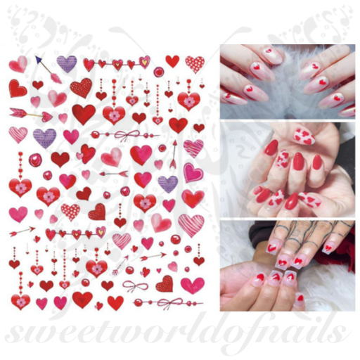 Valentine's Day Nail Art Heart Nail Stickers