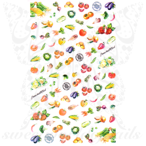 Vegetables Nail Art Nail Art Stickers