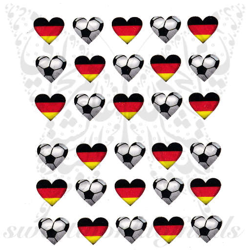 Germany Team Nail art Football water decals