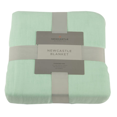 Bamboo Blanket Oversized King - Seafoam Green