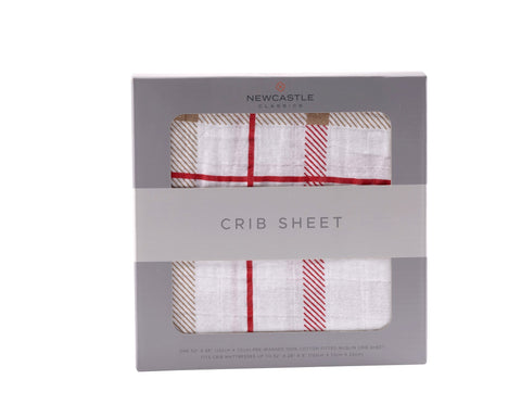 Plaid Crib Sheet