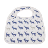 Blue Deer Snap Bibs Set of 3