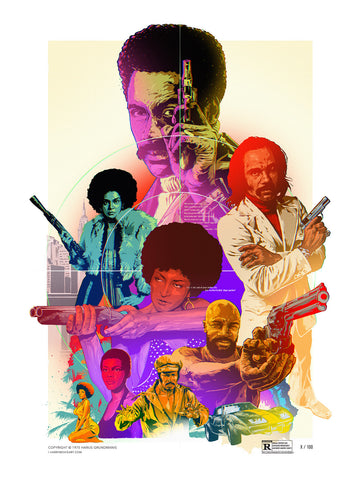 Blaxploitation movies tribute poster art
