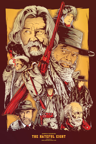The Hateful Eight alternative poster art