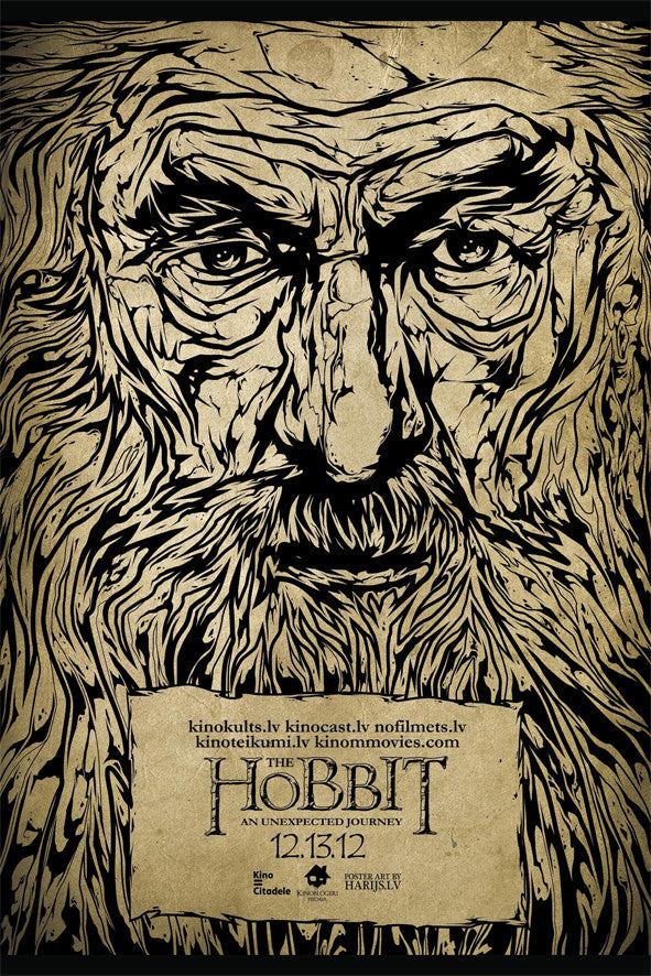 hobbit alternative movie poster art