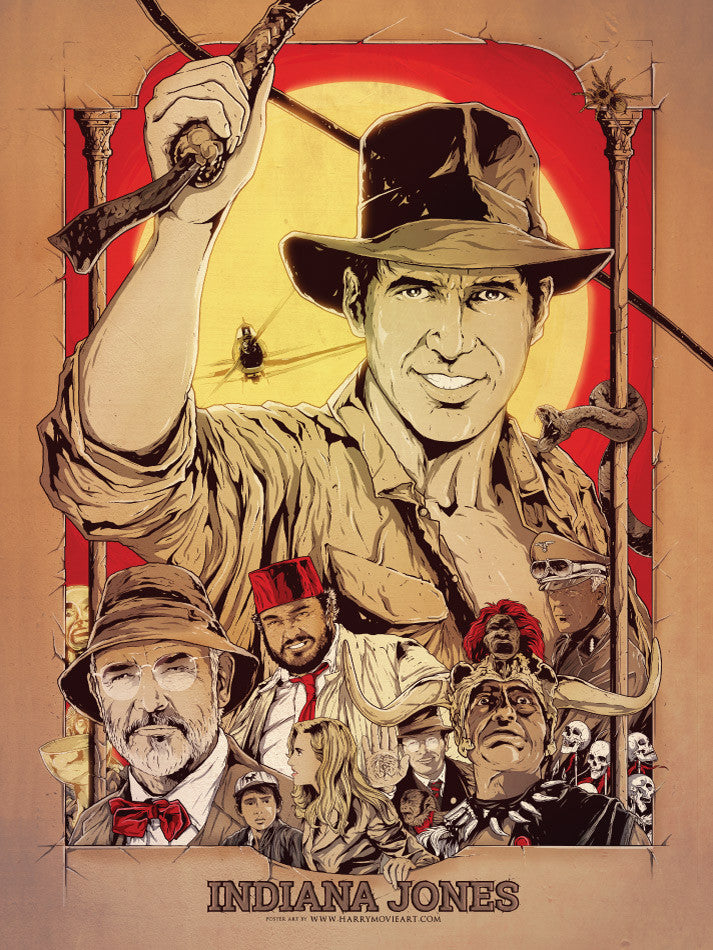 INDIANA JONES TRILOGY alternative poster art