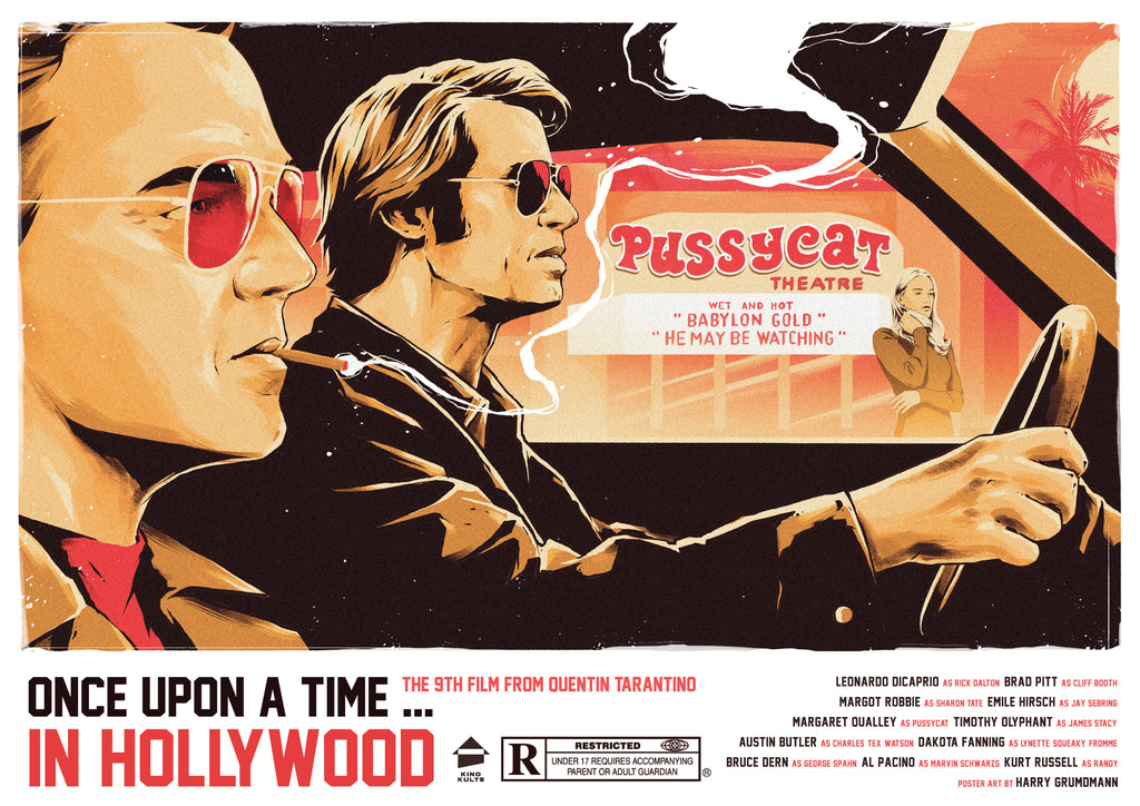 Once Upon a Time ... in Hollywood alternative poster art