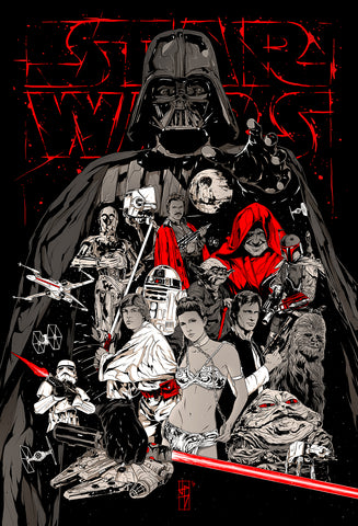 Star Wars Trilogy alternative poster art