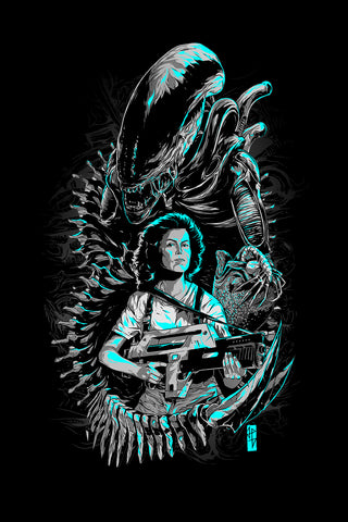 Alien Black Mother Ripley poster art