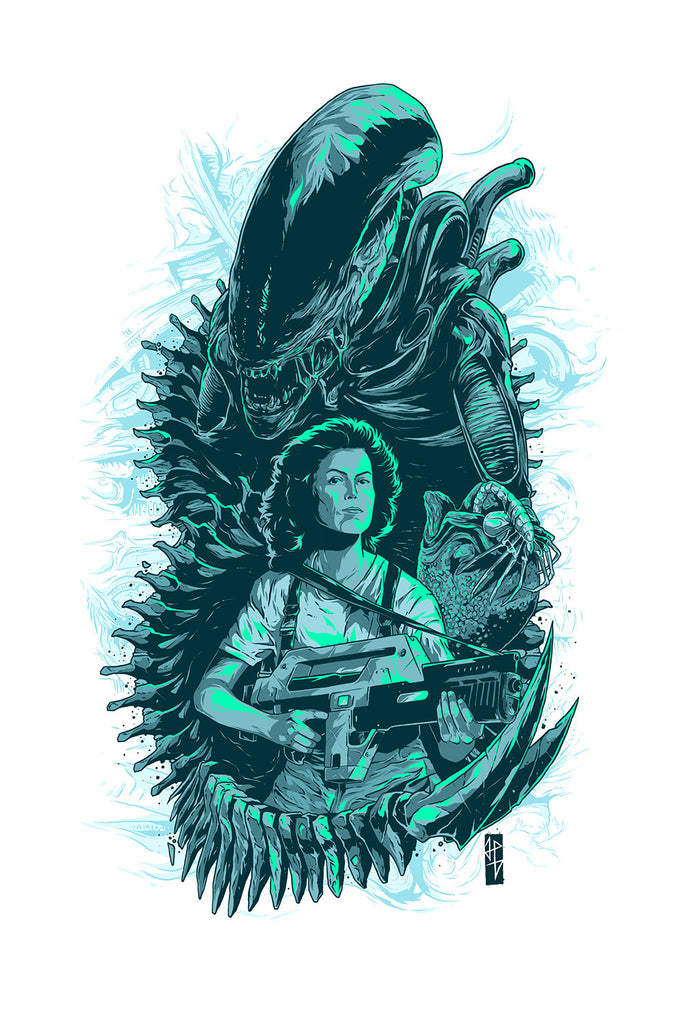 Alien White Mother Ripley poster art