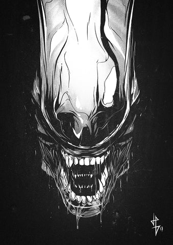 Alien Black Chrome poster art