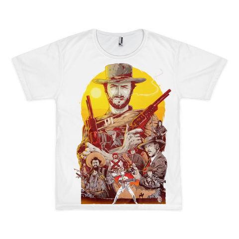 Spaghetti Western theme LA Apparel  Sublimation T-Shirt