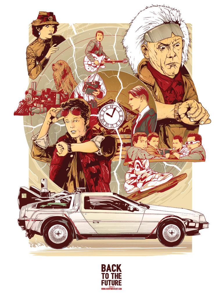 Back to the Future movie art