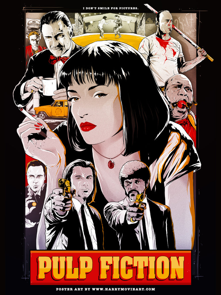Color version PULP FICTION alternative poster art