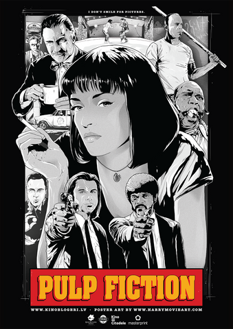 PULP FICTION alternative poster art