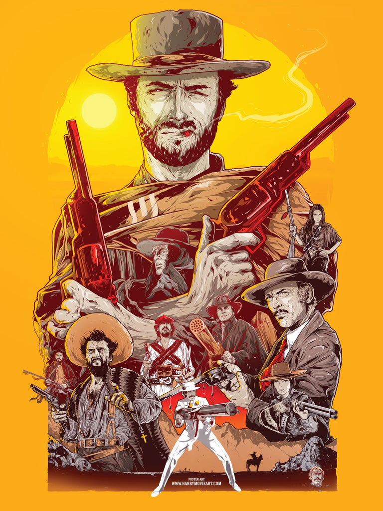 Spaghetti Western theme alternative poster art
