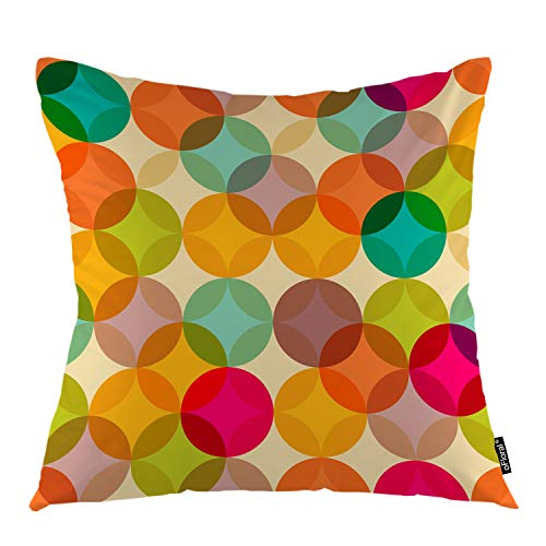 oFloral Giraffe Throw Pillow Covers African Animal Indian Tribal Ethnic Geometric Art Decorative Square Pillow Case 18