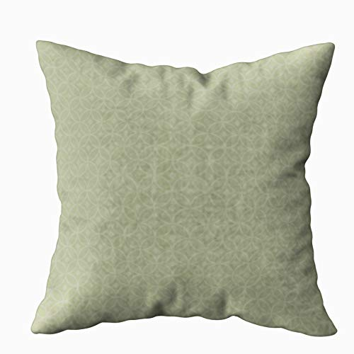TOMWISH Hidden Zippered Pillowcase Flags Clear Olive Green 18X18Inch,Decorative Throw Custom Cotton Pillow Case Cushion Cover for Home Sofas,bedrooms,Offices,and More