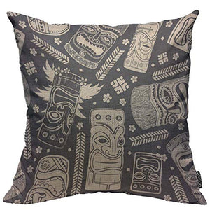 Mugod Throw Pillow Cover Classic Brown Leopard Print Home Decorative Linen Square Pillow Case for Men Women Boy Gilrs Bedroom Livingroom Cushion Cover 18x18 Inch Pillowcase