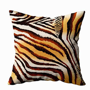 TOMWISH 2 Packs Hidden Zippered Pillowcase Christmas Cowhide Accent 20X20Inch,Decorative Throw Custom Cotton Pillow Case Cushion Cover for Home
