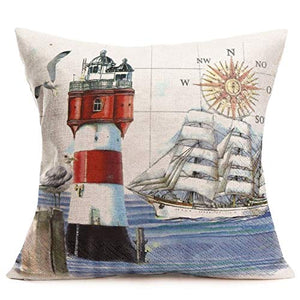 "Asminifor Pillow Covers Retro Colorful Wood Grain Background Style with Lake Rules Cotton Linen Throw Pillowcase Personalized Cushion Cover for Home Sofa Office Decorative Square 18""x18'' (Lake Rules)"