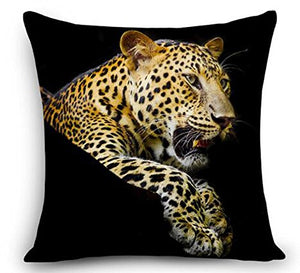 "Animal Cheetah Leopard Throw Pillow Cover Cushion Case Cotton Linen Material Decorative 18 "" Square (2)"