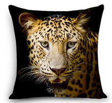 "Load image into Gallery viewer, Animal Cheetah Leopard Throw Pillow Cover Cushion Case Cotton Linen Material Decorative 18 "" Square (2)"