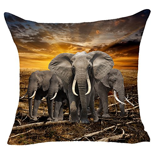 Animal Cheetah Leopard Throw Pillow Cover Cushion Case Cotton Linen Material Decorative 18