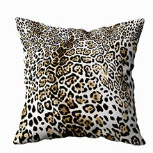 Load image into Gallery viewer, TOMWISH 2 Packs Hidden Zippered Pillowcase Christmas Cowhide Accent 20X20Inch,Decorative Throw Custom Cotton Pillow Case Cushion Cover for Home