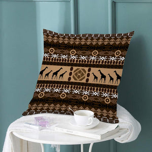 "oFloral Giraffe Throw Pillow Covers African Animal Indian Tribal Ethnic Geometric Art Decorative Square Pillow Case 18""X18"" Pillowcase Home Decor for for Sofa Bedroom Livingroom"