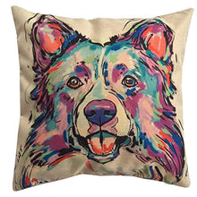 Load image into Gallery viewer, Redland Art Cute Pet German Shepherd Dog Throw Pillow Covers Cotton Linen Sofa Decorative Cushion Cases for Home Decor 18×18 Inch